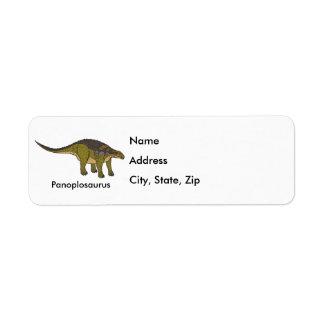 Panoplosaurus Custom Return Address Label
