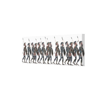 Panoply- Ancient Greek hoplites on the move Canvas Print