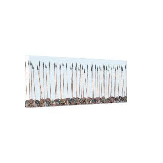Panoply - Field of Greek hoplite spears Canvas Print