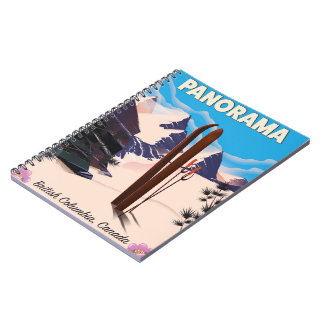 Panorama Canada travel poster Notebooks