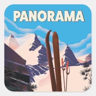 Panorama Canada travel poster Square Sticker