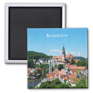 Panorama. Cesky Krumlov and the castle. Magnet