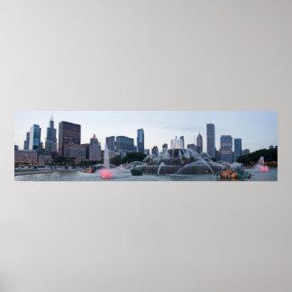 Panorama Chicago Blackhawks Win Poster