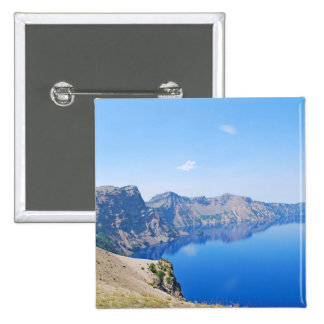 Panorama Crater Lake 2 Inch Square Button