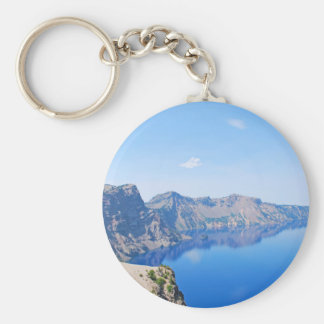 Panorama Crater Lake Basic Round Button Keychain