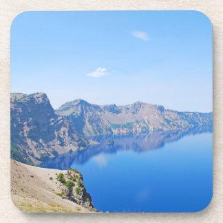 Panorama Crater Lake Beverage Coaster