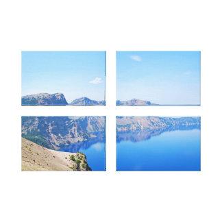 Panorama Crater Lake Canvas Print