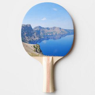Panorama Crater Lake Ping-Pong Paddle