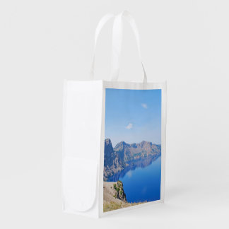 Panorama Crater Lake Reusable Grocery Bag