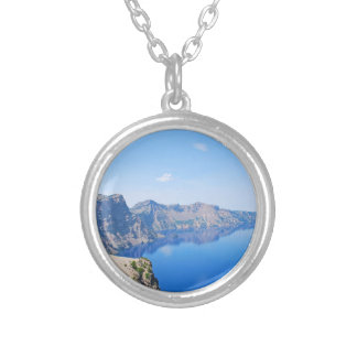 Panorama Crater Lake Silver Plated Necklace