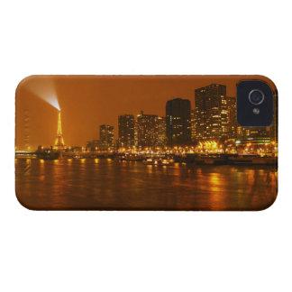 Panorama d'horizon de nuit de Pont Mirabeau Paris Étui iPhone 4