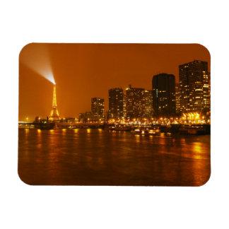 Panorama d'horizon de nuit de Pont Mirabeau Paris  Magnet