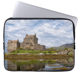Panorama Eilean Donan Castle viewed from south Laptop Sleeve