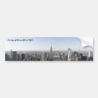 panorama-esb-nyc2, On top of the world in NYC! Car Bumper Sticker
