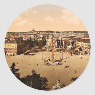 Panorama from the Pincian, Rome, Italy classic Pho Round Sticker
