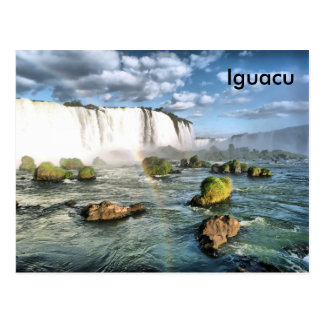 Panorama Iguacu falls Postcard
