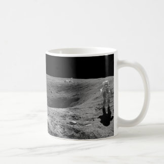 Panorama of Apollo 16 Astronaut on the Moon Coffee Mug