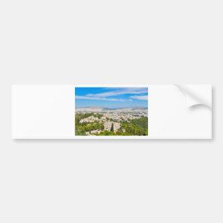 Panorama of Athens, Greece Bumper Sticker
