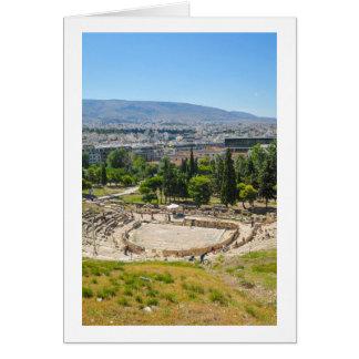 Panorama of Athens, Greece Card