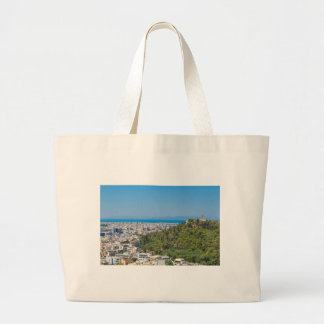 Panorama of Athens, Greece Large Tote Bag