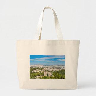 Panorama of Athens, Greece Large Tote Bag