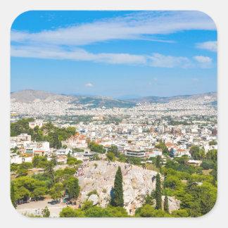Panorama of Athens, Greece Square Sticker