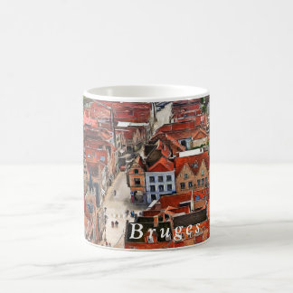 Panorama of Bruges from the Belfort tower. Coffee Mug
