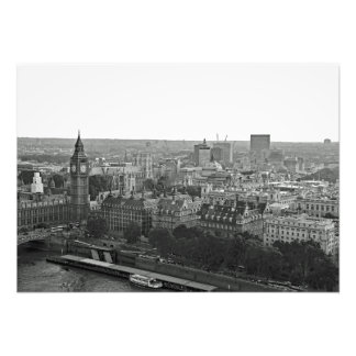 Panorama of city from the London Eye Photo Print