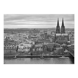 Panorama of Cologne with a view of Cathedral Photo Print