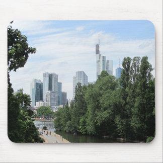Panorama of Frankfurt skyline Mouse Pad