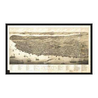 Panorama of Halifax, Nova Scotia, Canada (1879) Canvas Print