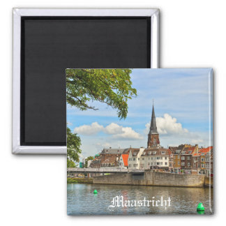 Panorama of Maastricht from river Maas or Meuse Magnet