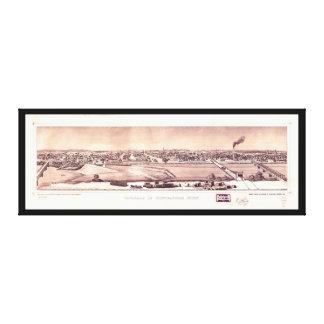 Panorama of Minneapolis, Minnesota (1873) Canvas Print
