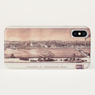 Panorama of Minneapolis, Minnesota (1873) iPhone X Case