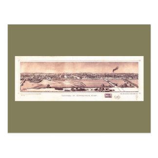 Panorama of Minneapolis, Minnesota (1873) Postcard