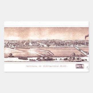 Panorama of Minneapolis, Minnesota (1873) Sticker