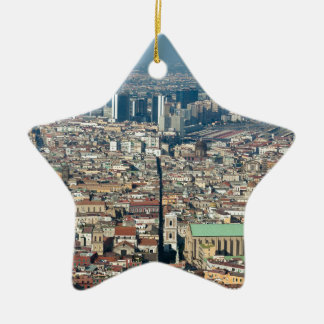Panorama of Naples Ceramic Ornament