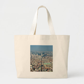 Panorama of Naples Large Tote Bag