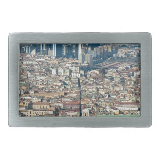 Panorama of Naples Rectangular Belt Buckle