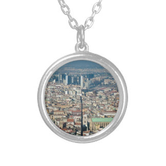 Panorama of Naples Silver Plated Necklace