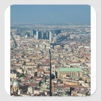Panorama of Naples Square Sticker