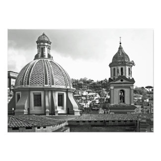 Panorama of Naples with temples Photo Print