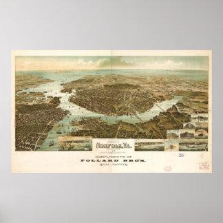 Panorama of Norfolk, Virginia (1892) Poster