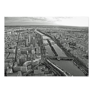 Panorama of Paris from the Eiffel Tower Photo Print