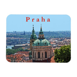 Panorama of Prague with the church of St. Nicholas Magnet
