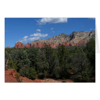 Panorama of Red Rocks in Sedona Arizona Card