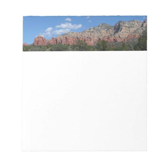 Panorama of Red Rocks in Sedona Arizona Notepad