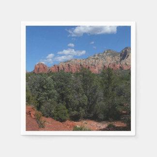 Panorama of Red Rocks in Sedona Arizona Paper Napkin