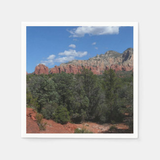 Panorama of Red Rocks in Sedona Arizona Paper Napkins