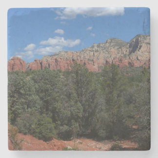 Panorama of Red Rocks in Sedona Arizona Stone Coaster